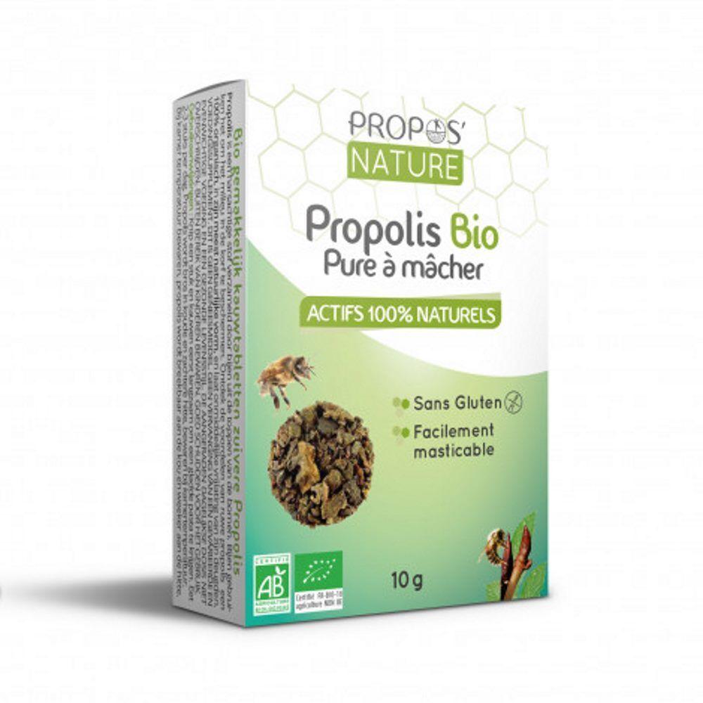Propos' Nature Gommes Propolis Pure à mâcher Bio 10 g - Propos Nature
