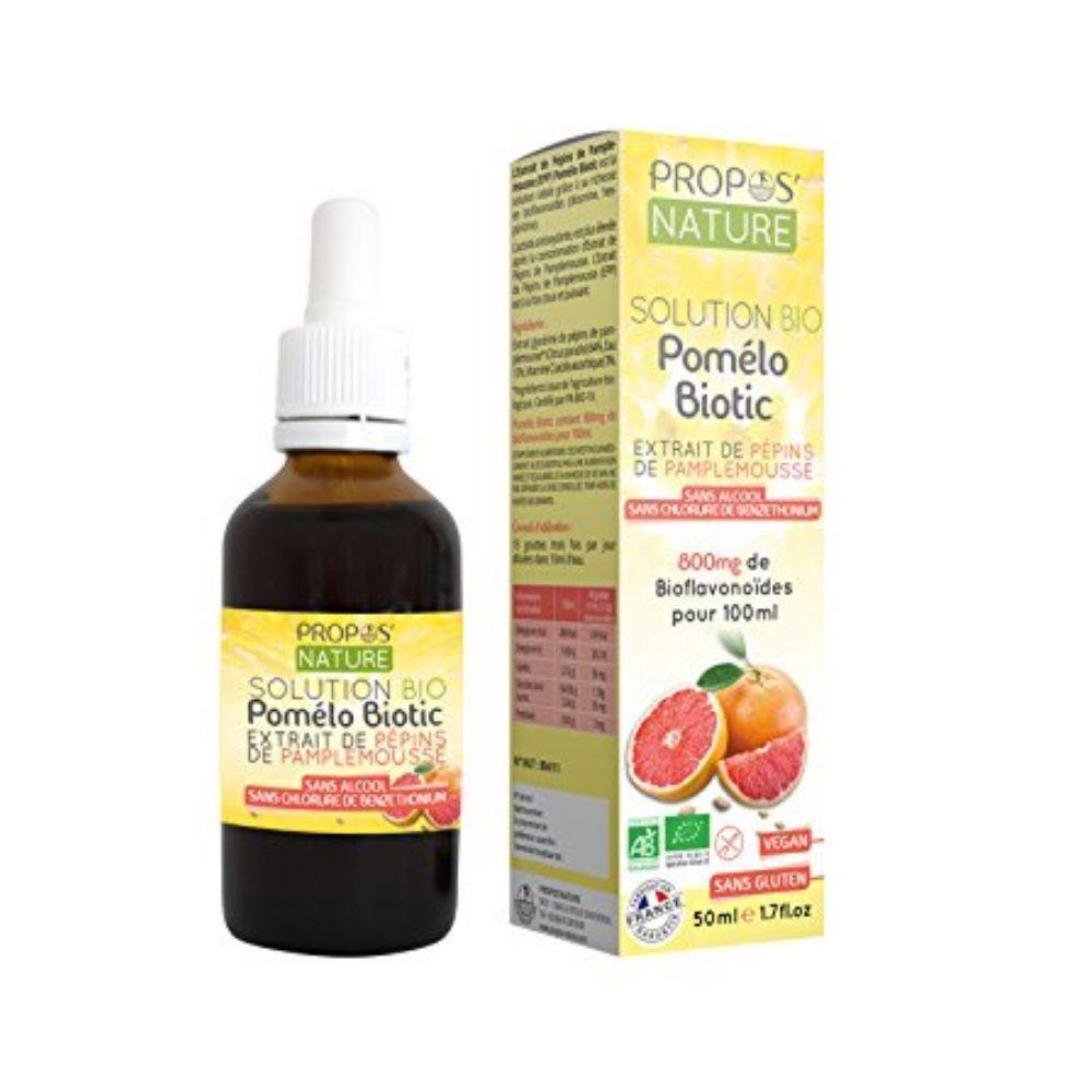 Propos' Nature Pomélo Biotic Bio - Extrait de Pépins de Pamplemousse 50 ml - Propos Nature