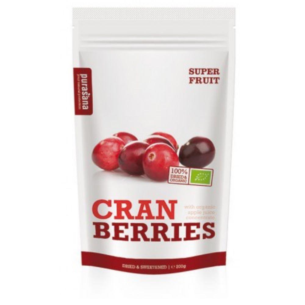 Purasana Cranberries Bio - Baies séchées 200 g - Purasana