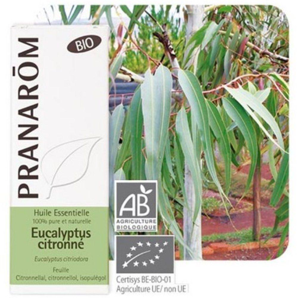 Pranarôm Eucalyptus citronné Bio - Huile essentielle d'Eucalyptus citriodora 10 ml - Pranarôm