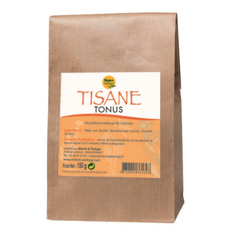 Nature et Partage Tisane Tonus - Tisane 150 grammes - Nature et Partage
