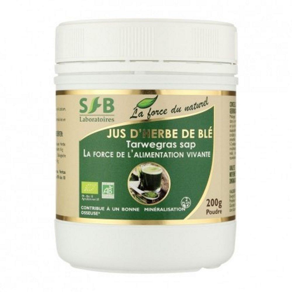 SFB Laboratoires Jus d'herbe de blé Bio - Minéralisation osseuse Poudre 120 grammes - SFB Laboratoires