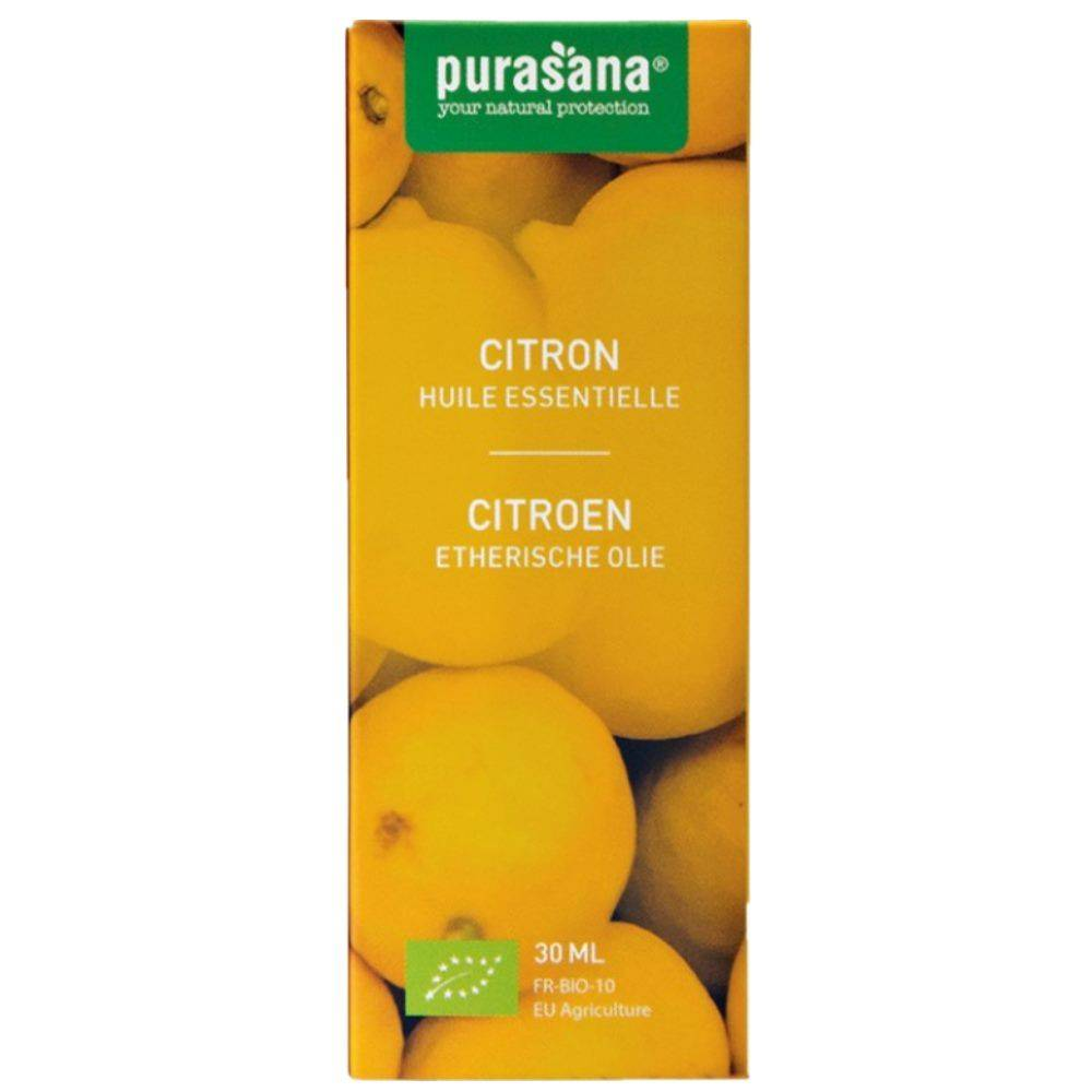 Purasana Citron Bio - Huile essentielle de Citrus limon (L.) Burm. f. 30 ml - Purasana