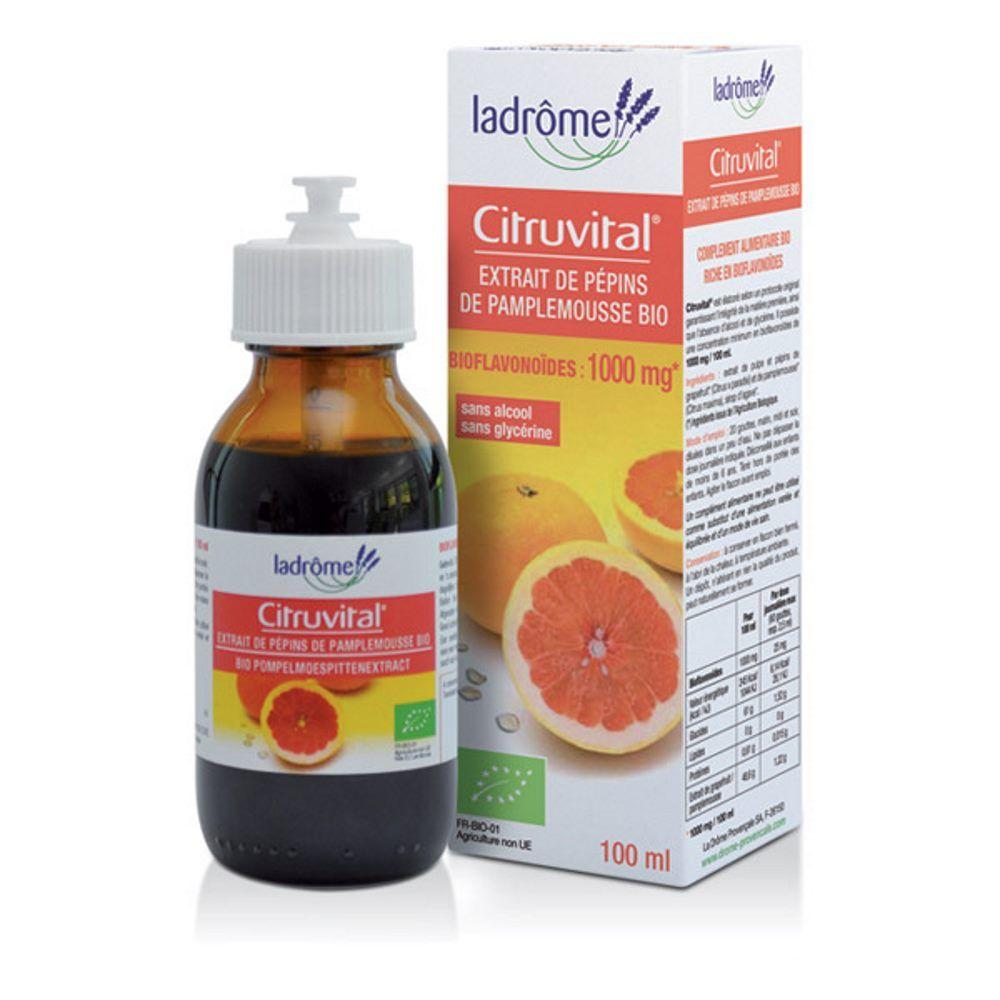 Ladrôme Citruvital Bio - Extrait de pépins de Pamplemousse 100 ml - Ladrôme