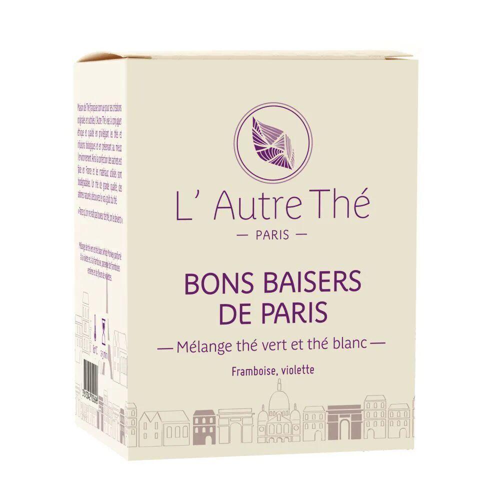 L'Autre Thé Bons Baisers de Paris Bio - Thé vert framboise & violette 20 sachets pyramide - L'Autre thé