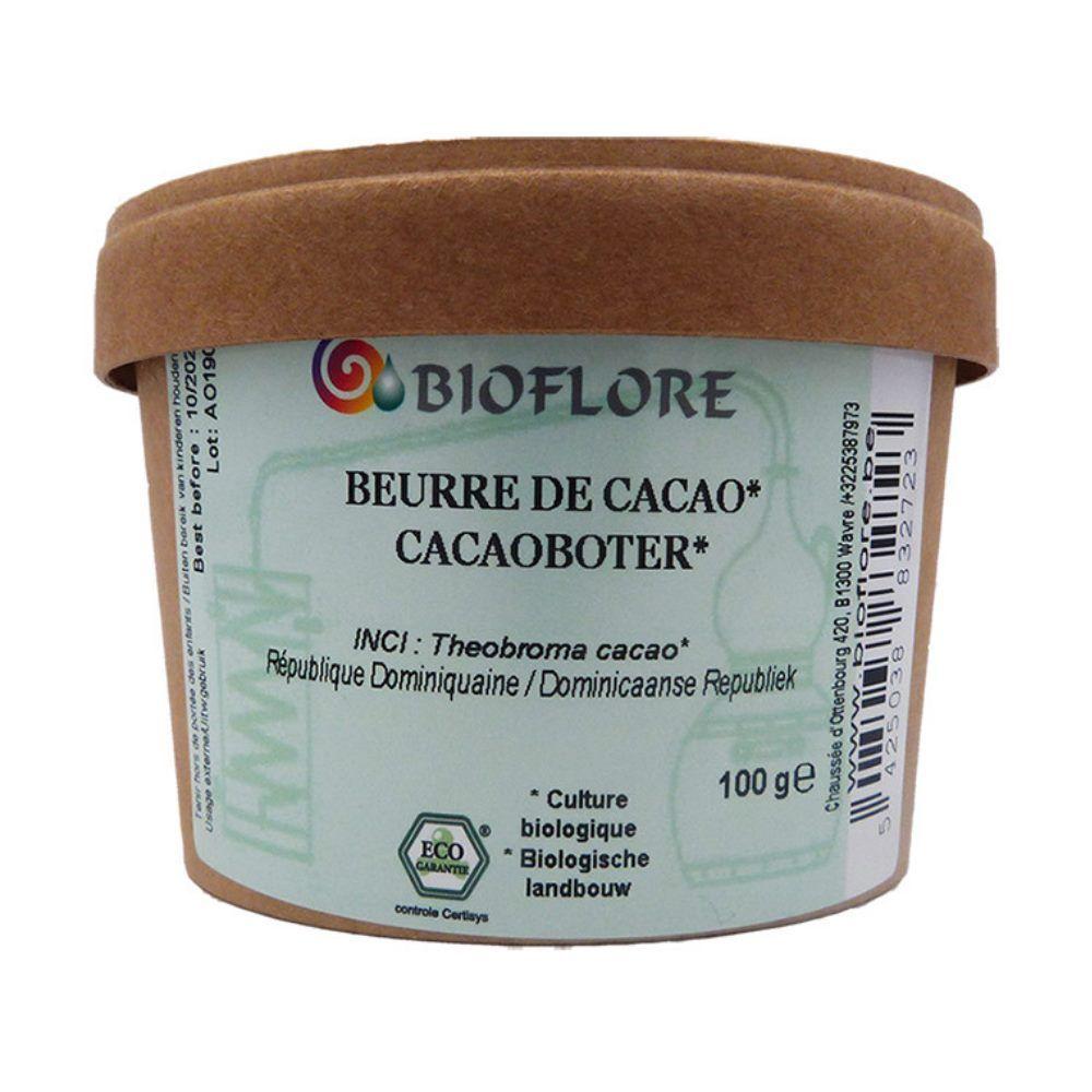 Bioflore Beurre de Cacao Bio - Ingrédient actif nourrissant et adoucissant 100g - Bioflore