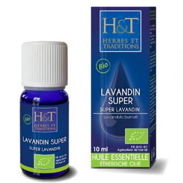 Herbes et Traditions Lavandin super Bio - Huile essentielle Lavandula burnati 10 ml - Herbes et Traditions