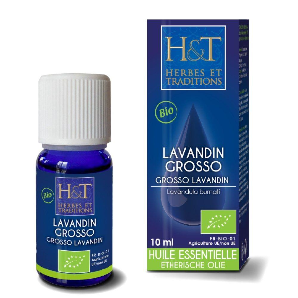 Herbes et Traditions Lavandin Grosso Bio - Huile essentielle Lavandula burnati grosso 10 ml - Herbes et Traditions
