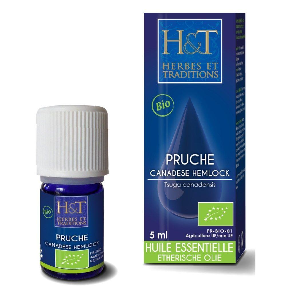 Herbes et Traditions Pruche Bio - Huile essentielle Tsuga canadensis 5 ml - Herbes et Traditions