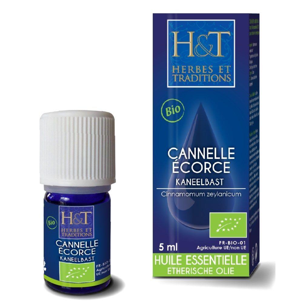 Herbes et Traditions Cannelle Ecorce Bio - Huile essentielle Cinnamomum zeylanicum 5 ml - Herbes et Traditions