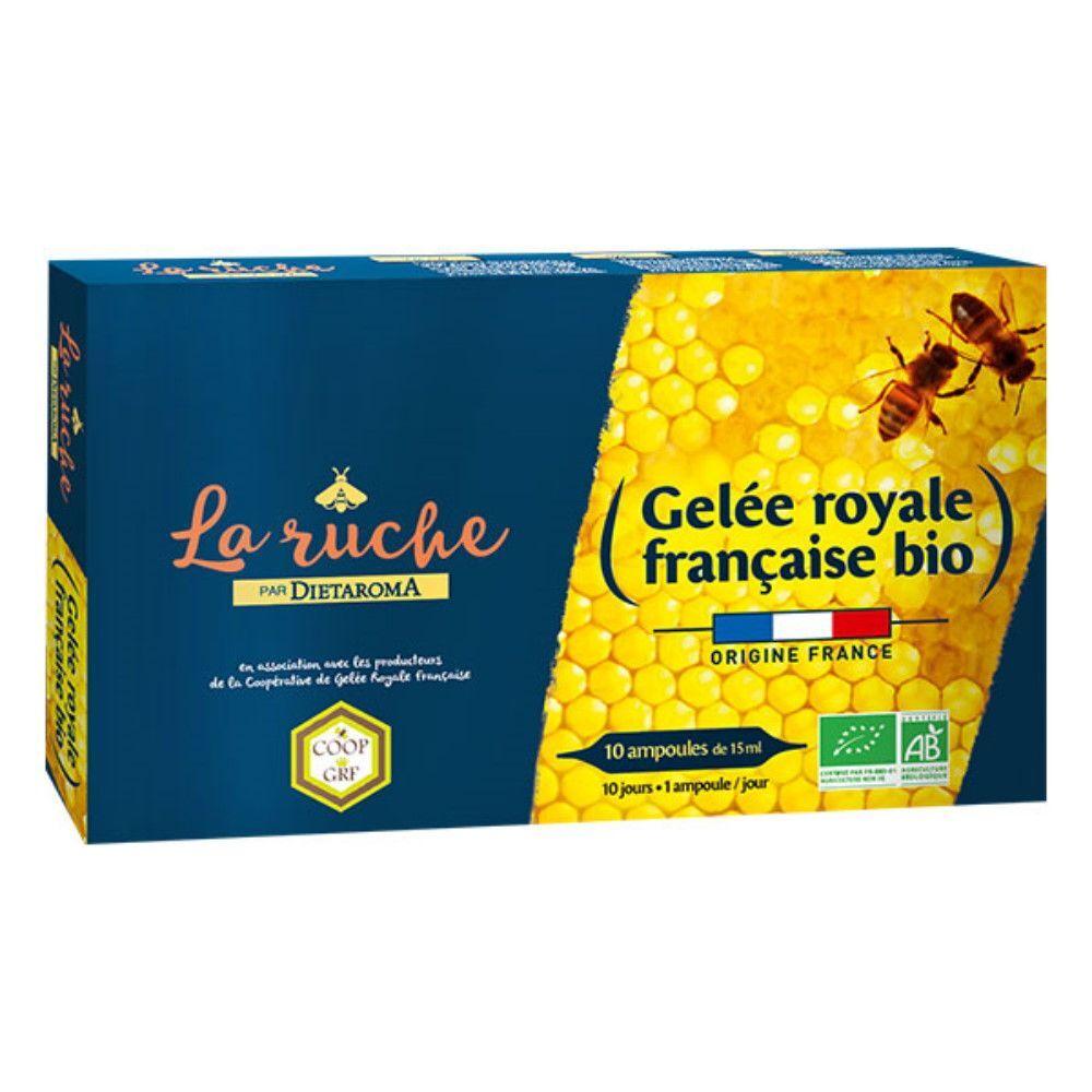Dietorama Gelée Royale Française Bio - 10 ampoules de 15 ml  - Dietaroma