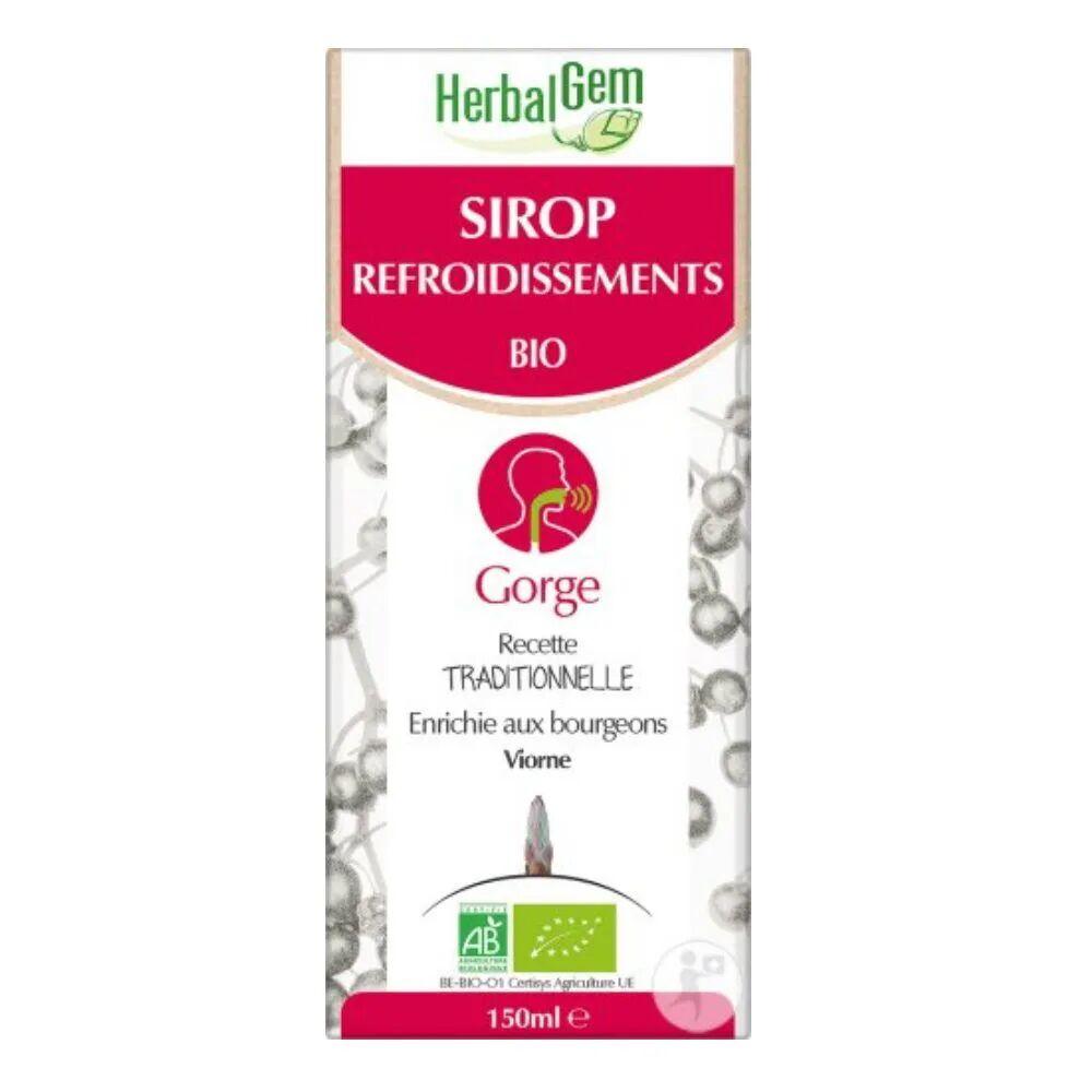 Herbalgem Sirop pour les refroidissements Bio - Voies respiratoires 150 ml - Herbalgem
