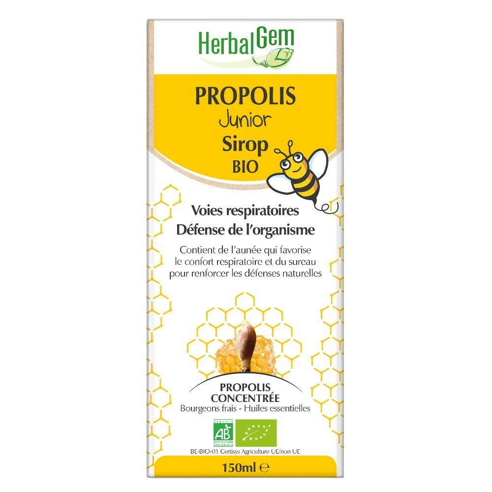 Herbalgem Propolis Junior Sirop Bio - Système respiratoire 150 ml - Herbalgem