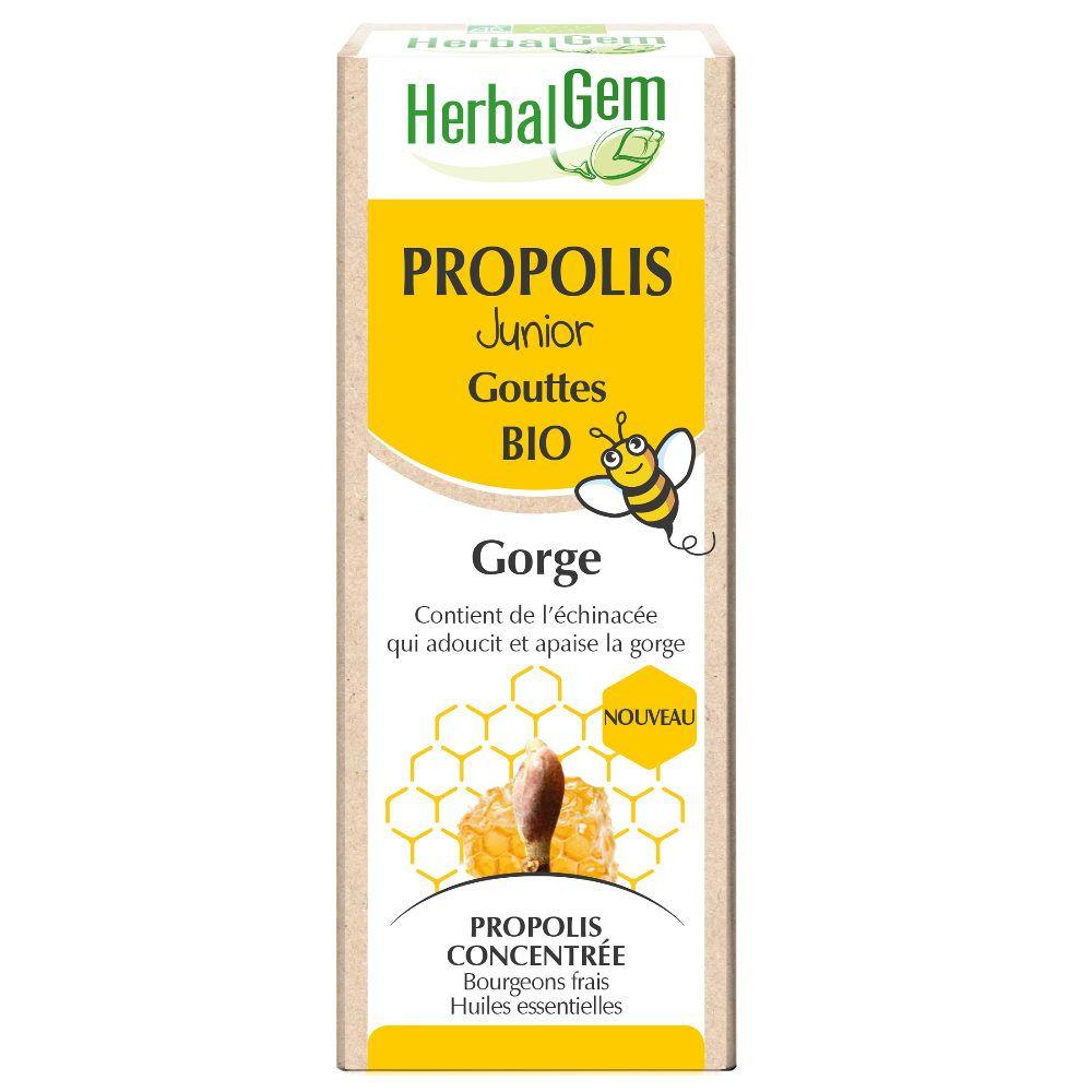 Herbalgem Propolis Bio Junior - Système respiratoire 15 ml - Herbalgem
