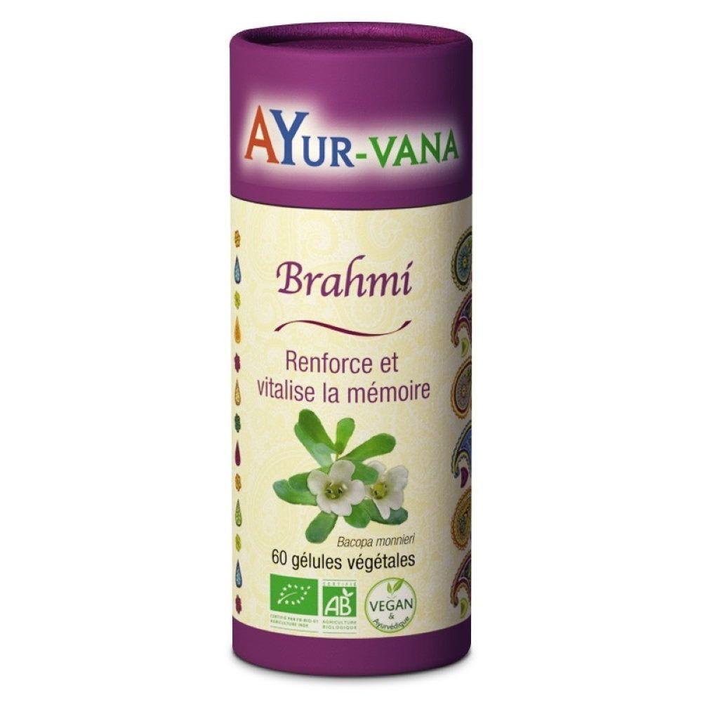 Ayur-vana Brahmi Bio - Mémoire 60 gélules - Ayur-Vana