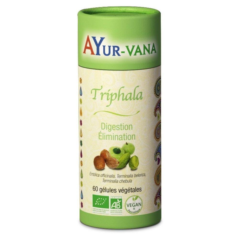 Ayur-vana Triphala Bio - Digestion et Elimination 60 gélules - Ayur-Vana
