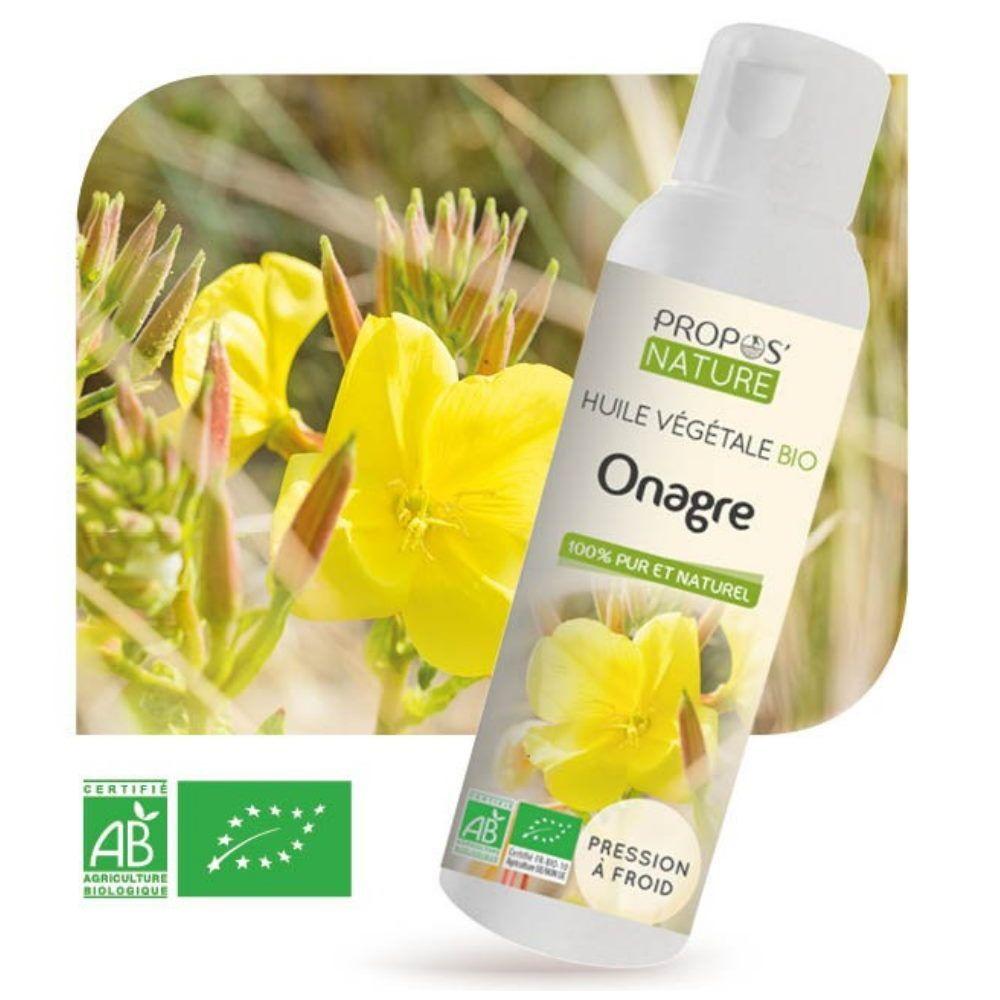 Propos' Nature Onagre Bio - Huile végétale d'Oenothera biennis 100 ml - Propos Nature