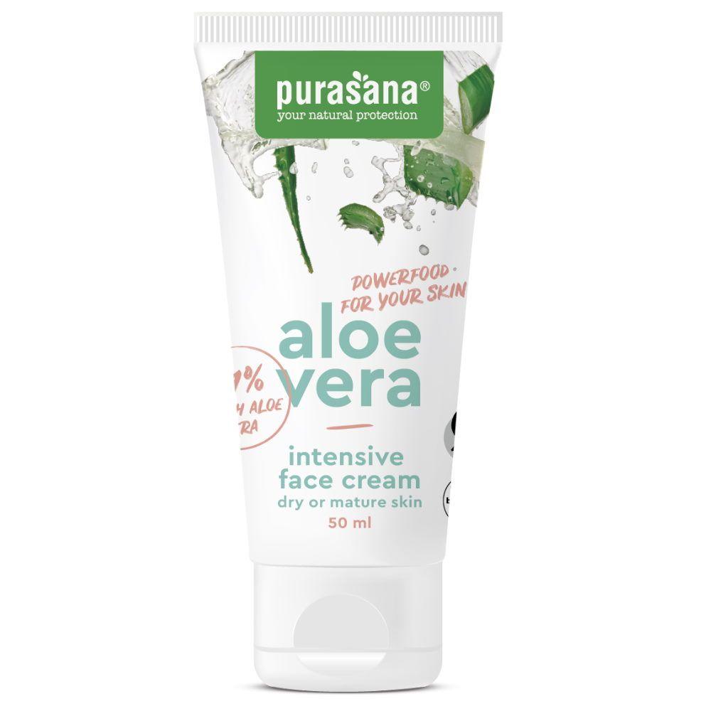 Purasana Aloe vera Bio - Crème Visage Intensive 50 ml - Purasana