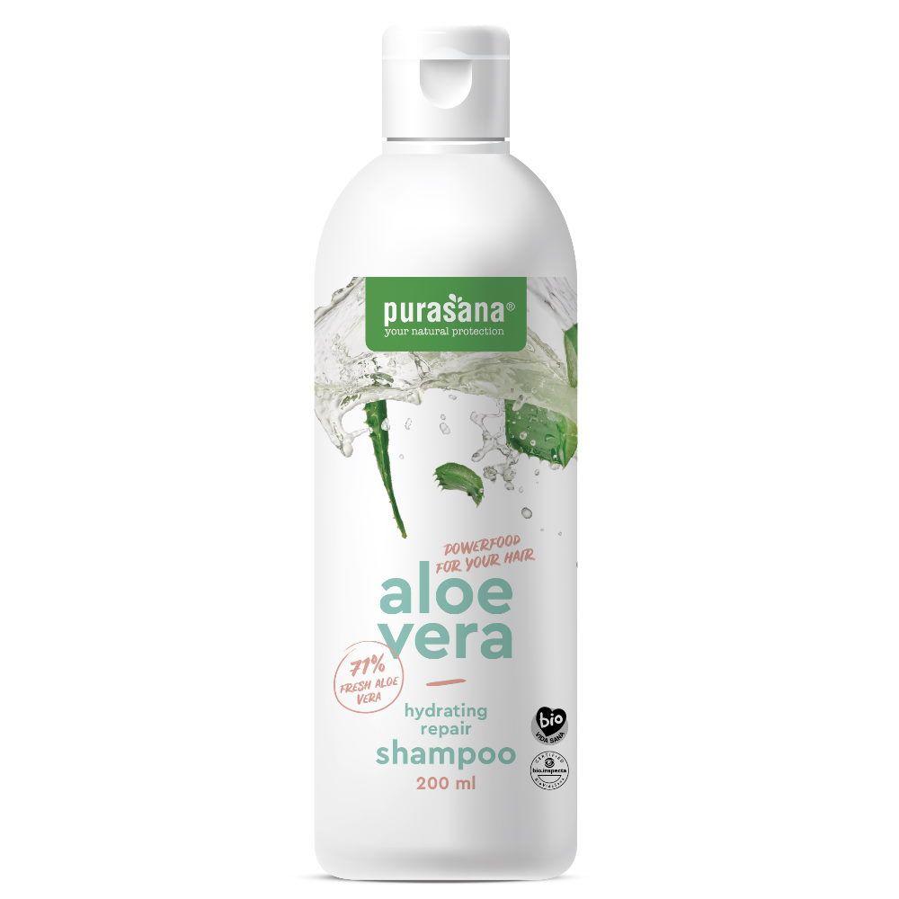 Purasana Aloe vera Bio - Shampooing réparateur hydratant 200 ml - Purasana