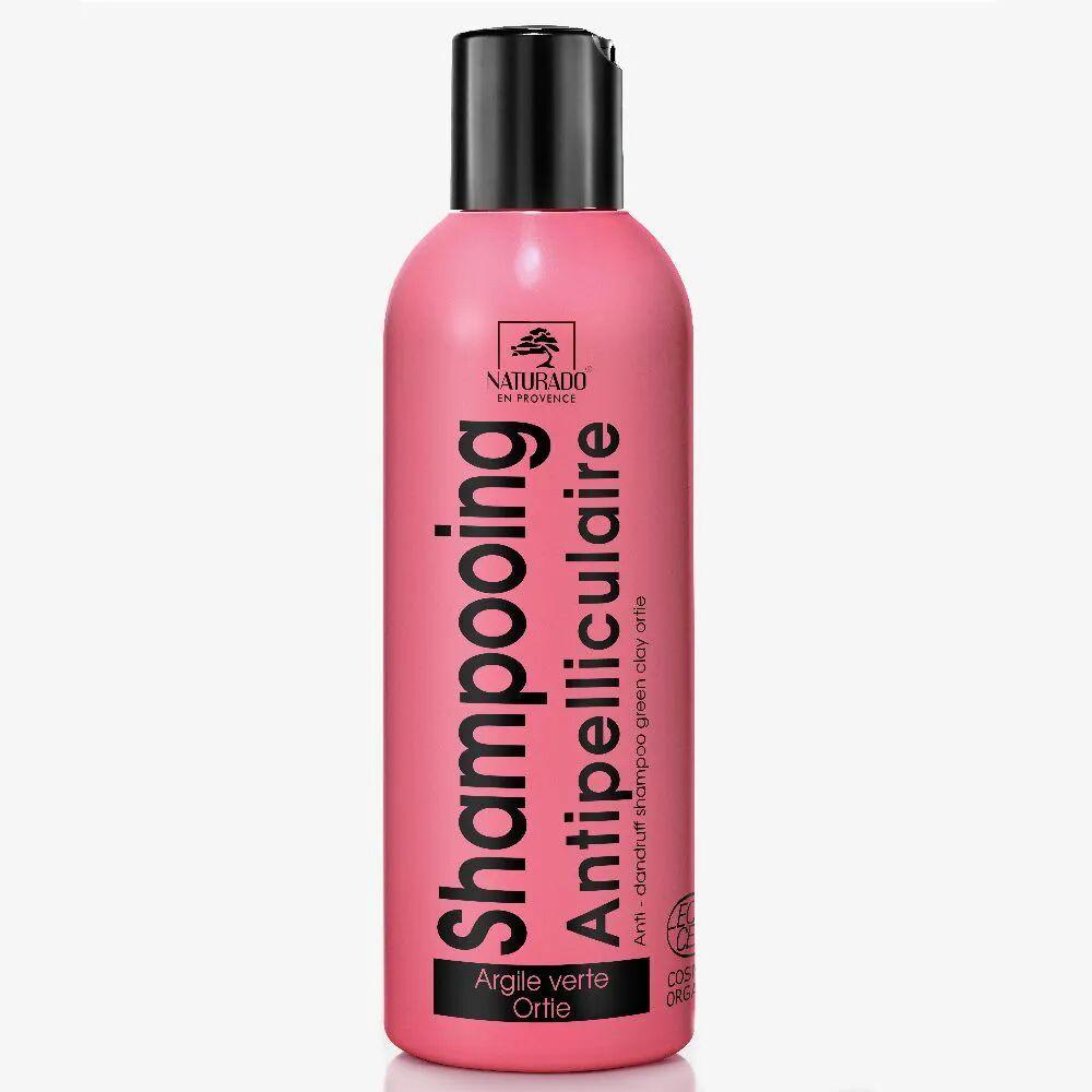 Naturado Shampooing Cheveux pelliculés à l'argile verte et à l'ortie blanche bio - Nettoie & Purifie 200ml - Naturado
