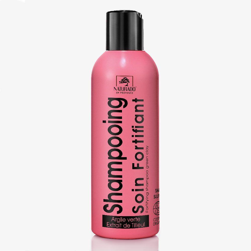 Naturado Shampooing Cheveux fragiles bio - Argile verte et Tilleul 200 ml - Naturado