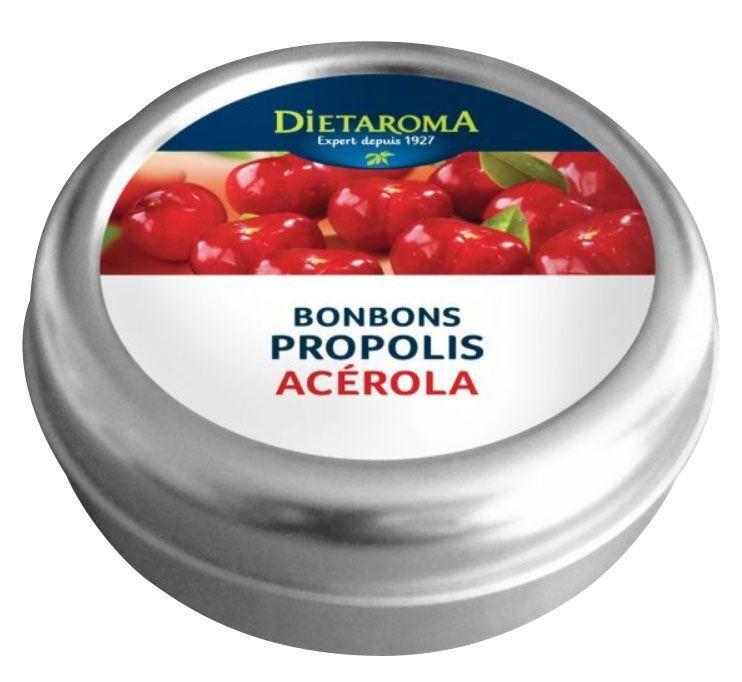 Dietorama Propolis et Acérola Bonbons - Immunité 50 g - Dietaroma