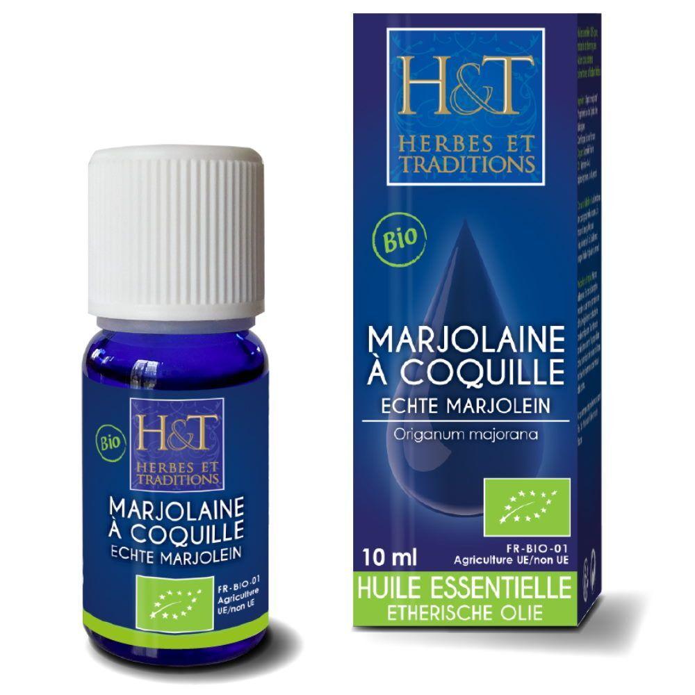 Herbes et Traditions Marjolaine à coquilles Bio - Huile essentielle d'Origanum majorana 10 ml - Herbes et Traditions