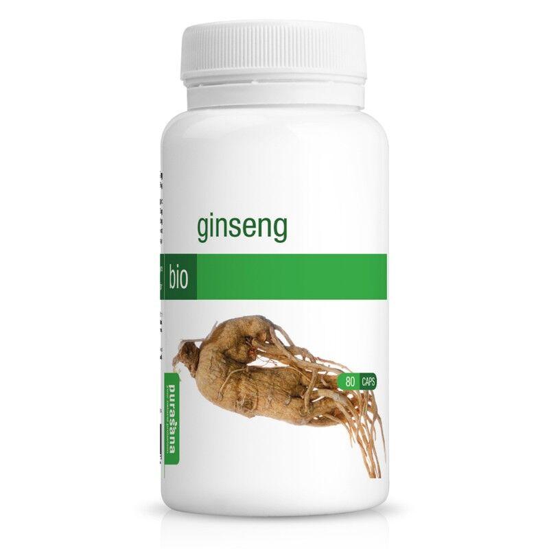 Purasana Ginseng Bio - Tonique et fortifiant 80 gélules - Purasana