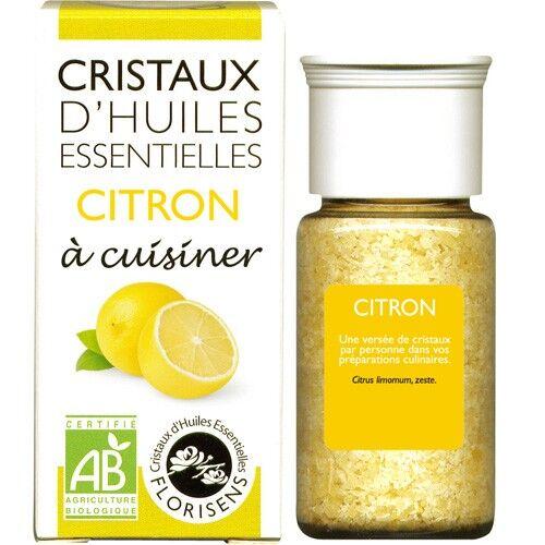 Cristaux d'huiles essentielles Citron - Cristaux d'huiles essentielles - 10g