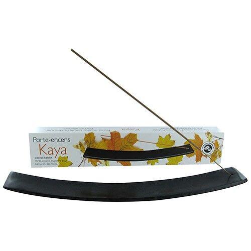 Les Encens du Monde Porte-encens en pierre Kaya noir pour  bâtonnets d'encens - Les Encens du Monde