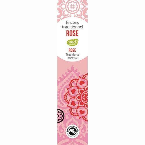 Les Encens du Monde Rose encens indiens - 18 bâtonnets - Les Encens du Monde