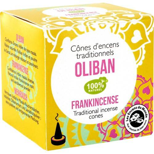 Les Encens du Monde Oliban encens indien - Relaxant 12 cônes - Les Encens du Monde