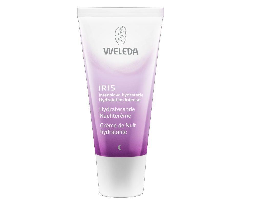 Weleda Crème de Nuit hydratante à l'Iris - Régénère et nourrit la peau 30 ml - Weleda