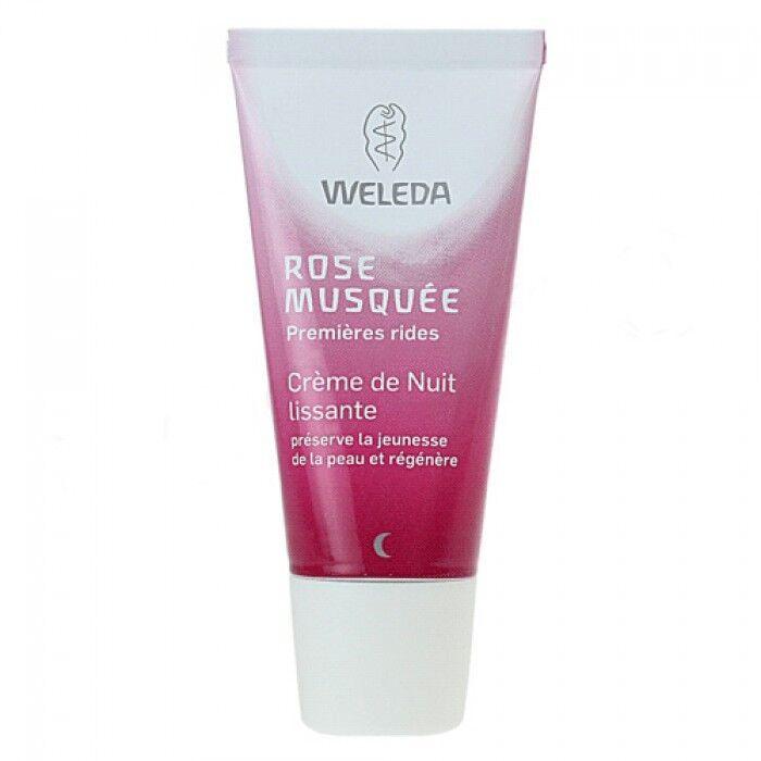 Weleda Crème de Nuit lissante à la Rose musquée - Régénère et nourrit la peau 30 ml - Weleda