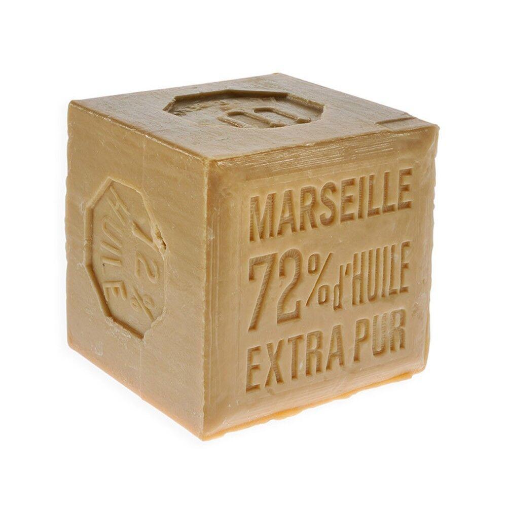 Rampal Latour Savon de Marseille Bio extra pur blanc - Garanti 72% d'huile, pur végétal, 600g - Rampal Latour
