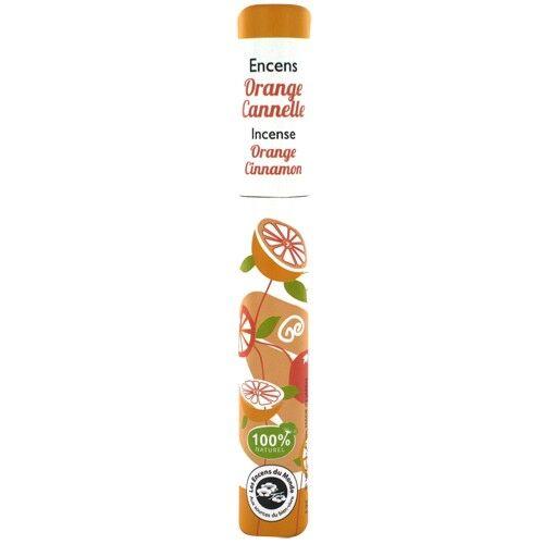 Les Encens du Monde Orange Cannelle - Encens végétal 30 bâtonnets - Les Encens du Monde