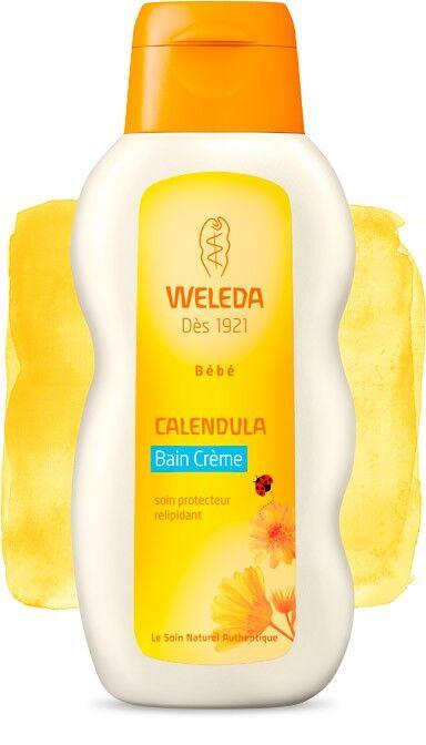Weleda Bain Crème pour Bébé au Calendula - Soigne et nettoie en douceur 200 ml - Weleda