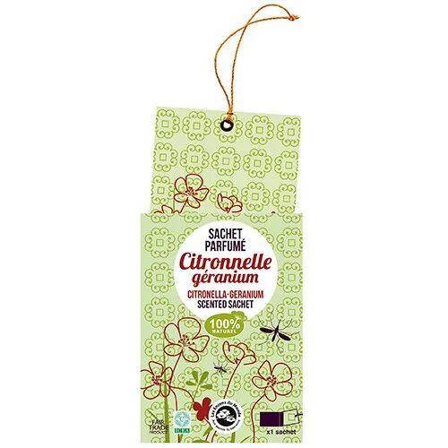 Les Encens du Monde Sachet parfumé - Citronnelle Géranium Anti-moustiques - Les Encens du Monde