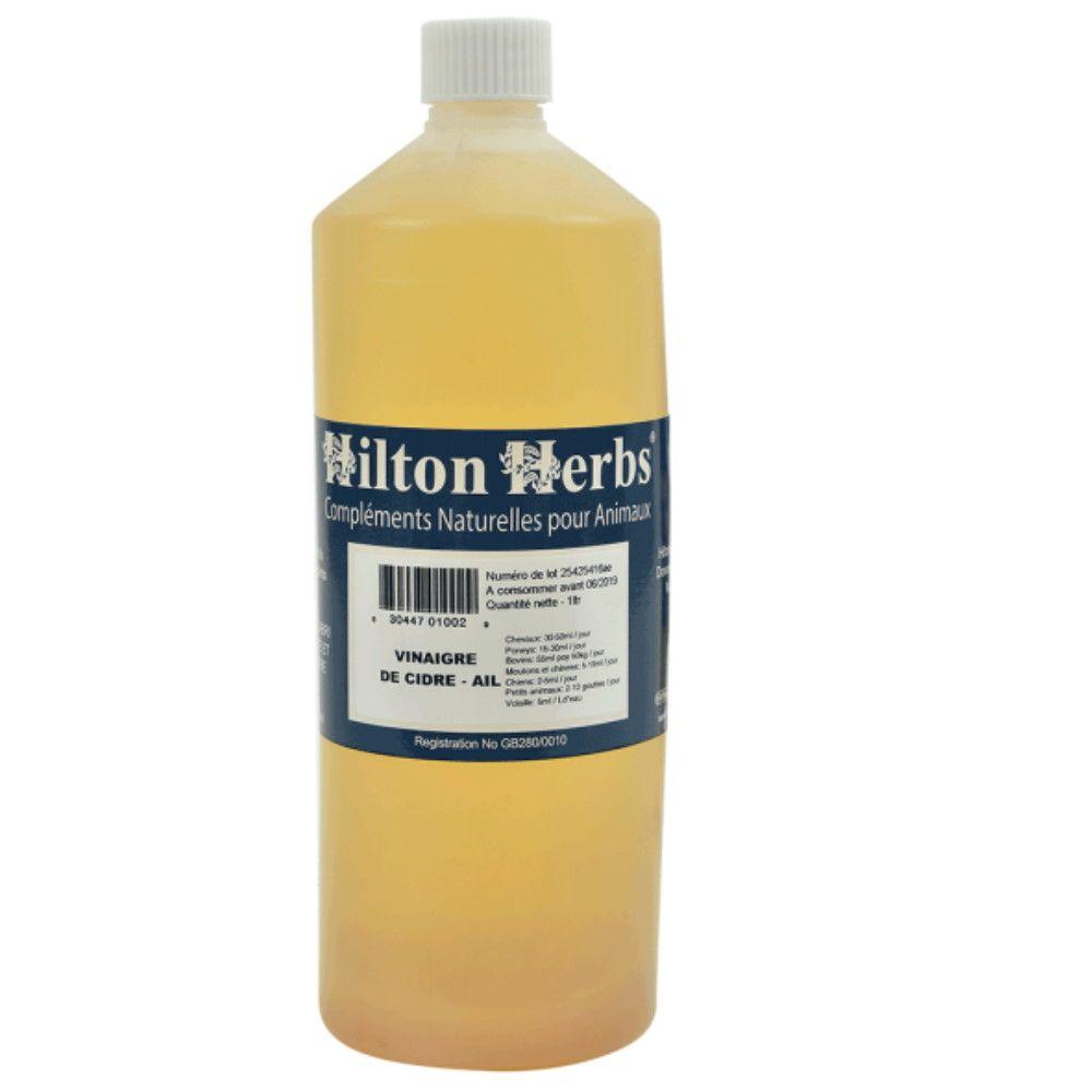 Hilton Herbs Vinaigre de Cidre + Ail - Vitamines Chevaux, chiens, volailles et oiseaux 1 Litre - Hilton Herbs