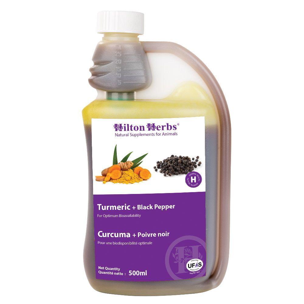Hilton Herbs Curcuma + Poivre Noir - Articulations des chevaux 500ml - Hilton Herbs