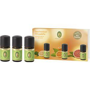 Primavera Health & Wellness Huiles essentielles bio Coffret cadeau Parfums citronnés Citron bio 5ml + Orange bio 5ml + Grapefruit bio 5ml 1 Stk.