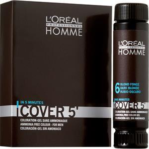 L'Oreal Professionnel Hommes Homme Cover 5 Coloration pour cheveux gris N°5 Marron Clair 3 x 50 ml