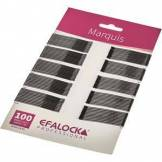 Efalock Professional Produit coiffant Épingles à cheveux et pinces à cheveux Barrettes Marquis Longueur 4 cm Marron 100 Stk.