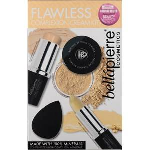 Bellápierre Cosmetics Make-up Teint Flawless Complexion Cream Kit Full Coverage Foundation Stick Fair 10 g + Mineral Concealer Stick Light/ Medium 3,5 g + Banana Powder 4 g + Mini Bella Blender 1 Stk.