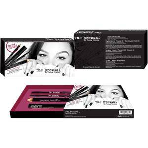 The Browgal Make-up Yeux Brow Travel Set Highlighter Pencil N°02 Gold/Nude 6g + Eyebrow Pencil N°03 Chocolate 1,2g + Eyebrow Pencil N°04 Medium Brown 1,2g + Clear Water Resistant Eyebrow Gel 5ml 1 Stk.