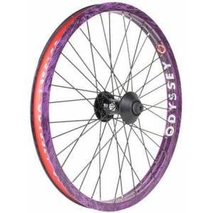 """Odyssey Hazard Lite x Vandero Pro 20"""" Roue Avant Complète BMX F (Purple Rain) - Publicité"""