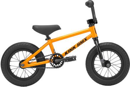 """Kink Roaster 12"""" 2021 BMX Bike Pour Enfants (Gloss Dusk Orange)"""