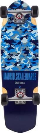 Madrid Cruiser Skate Complet Madrid Camo (Bleu)