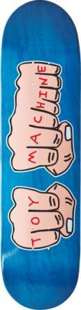 Toy Machine Skateboard Deck Toy Machine Fists (Bleu)