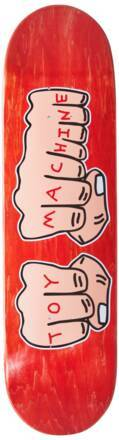 Toy Machine Skateboard Deck Toy Machine Fists (Rouge)